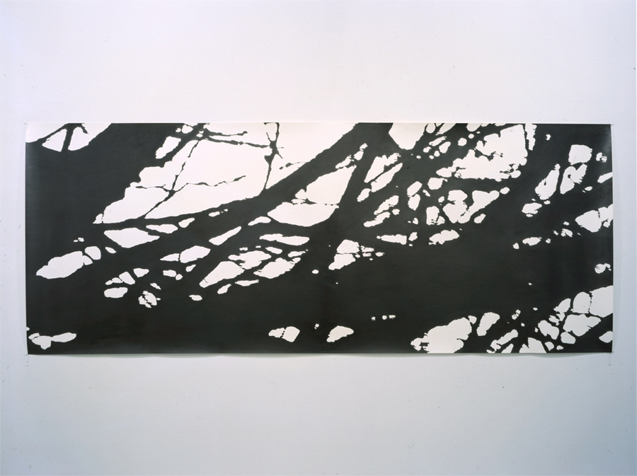 "Dusk , 2002 Pencil on watercolor paper 30"" x 98"" SOLD Private Collection NYC"