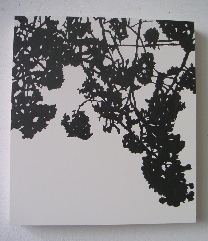 "Shogetsu (02), 2005 Pencil on clayboard panel 20"" x 16"" SOLD"