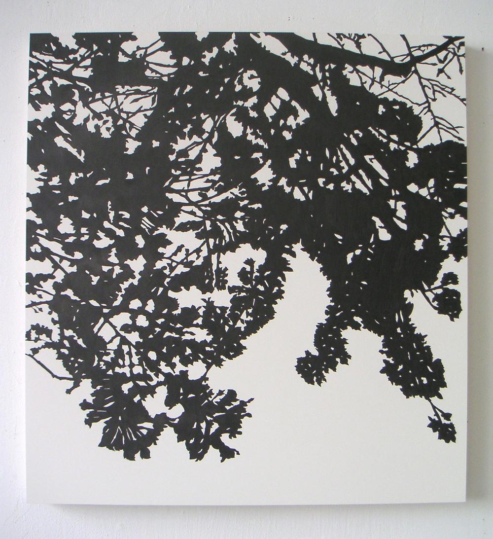 "Yaezakura, 2005 Pencil on clayboard panel 24"" x 20"" SOLD"