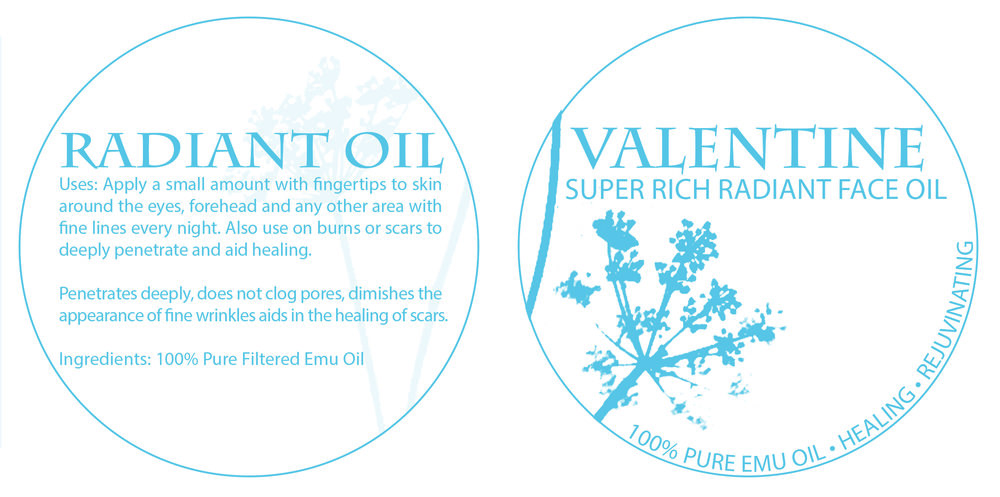 Valentine Botanicals Brand Identity Creation Packaging design