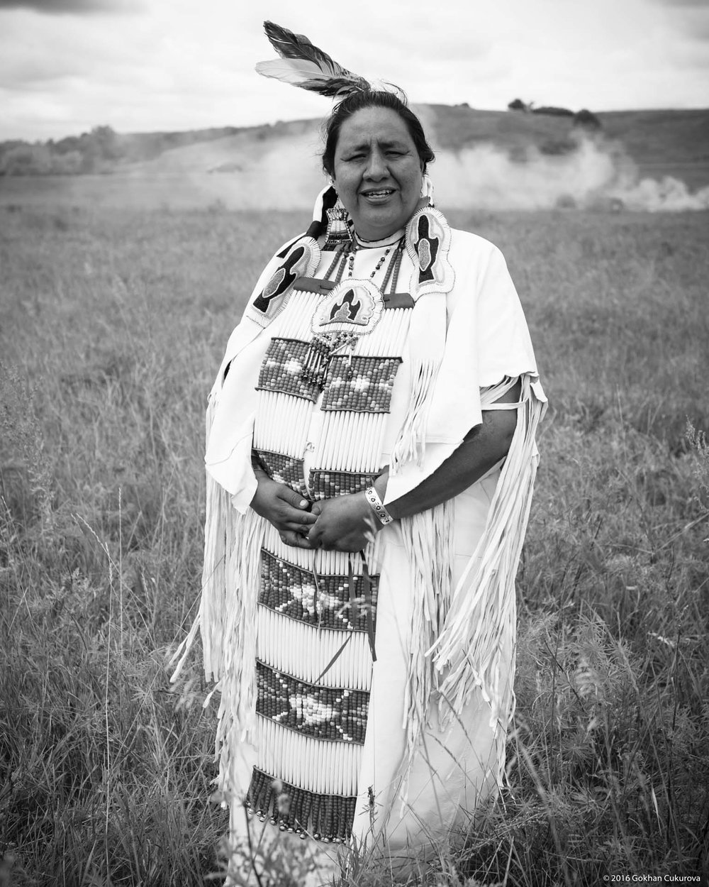 Mae Spotted Bear was one of the speakers, one of the most respected in the camp. She studied law for 9 years and demanded U.S. Government honor all broken treaties between Natives and the Federal Gov.