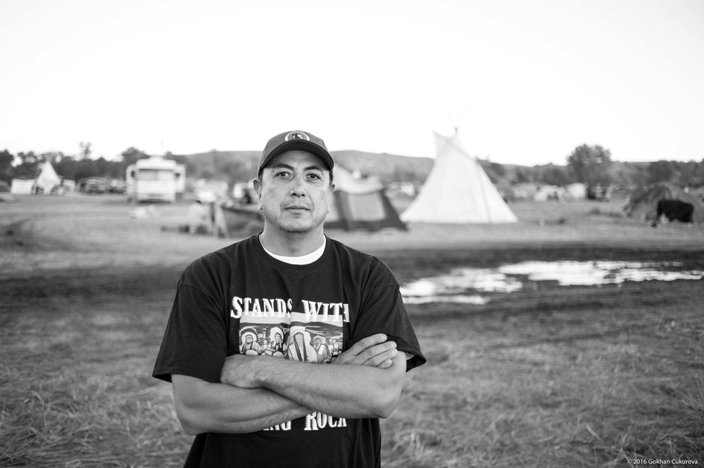 David Archambault II, the chairman of the Standing Rock Sioux Tribe, saw me with me 4x5 film camera. After a short discussion about the history of my camera he was happy to pose for one sheet.