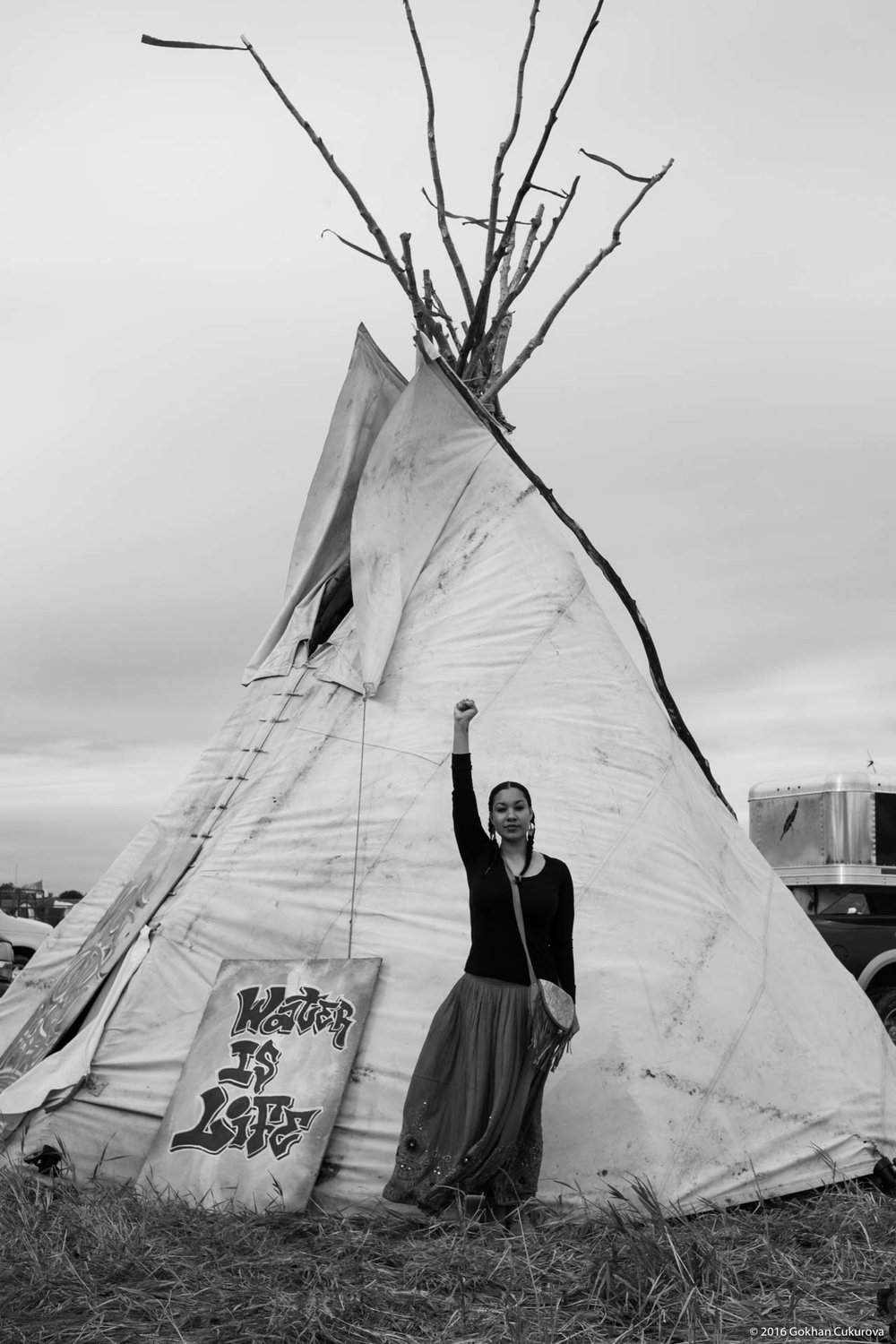 Leah, a water protector!
