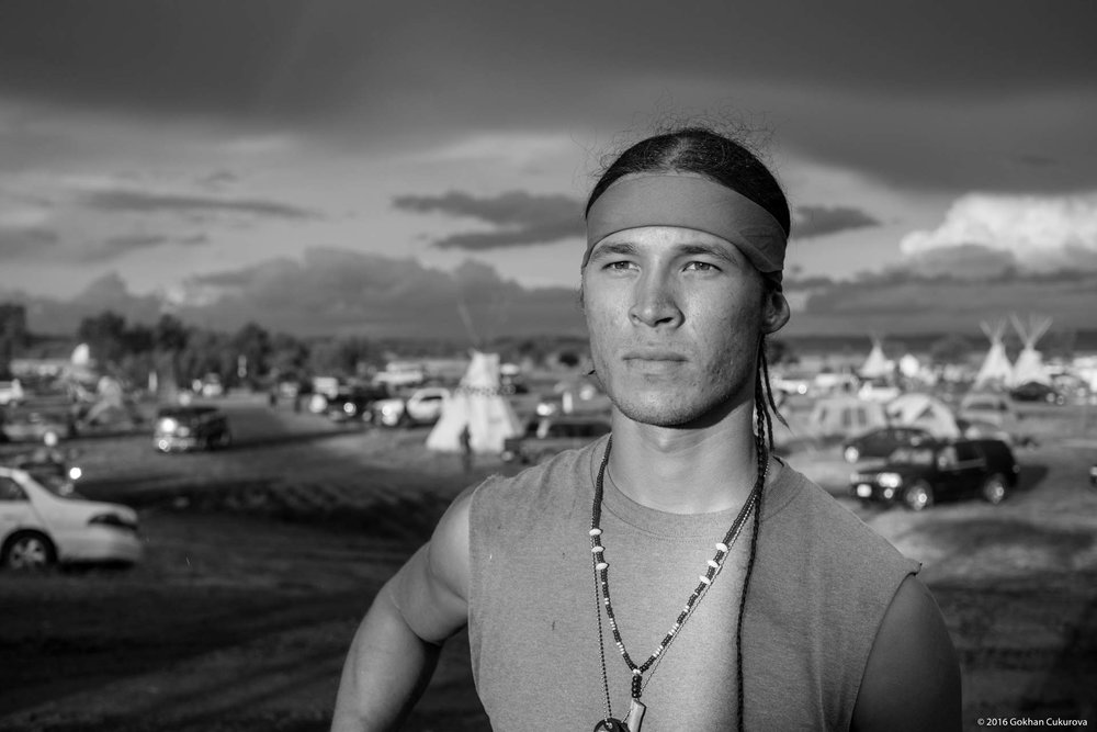 A water protector in Red Warrior Camp