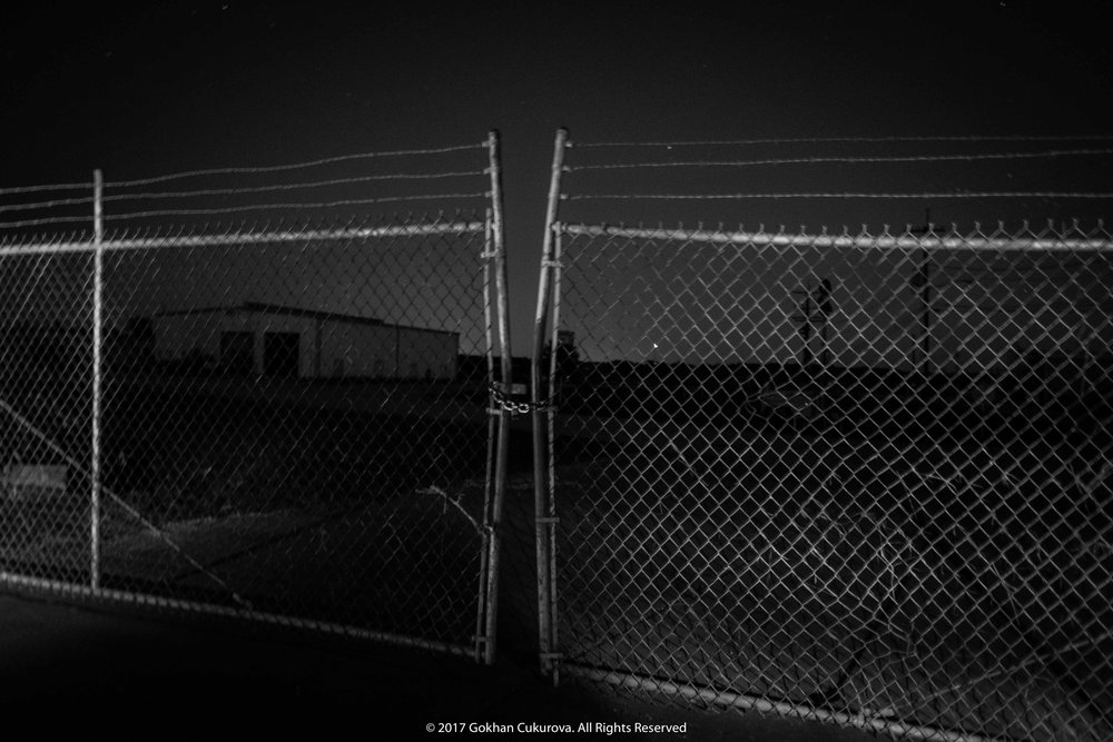 Chained fence - Arkema Chemical Plant, Crosby, Texas (North east of Houston)