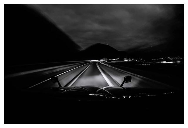 Driving through the Appalachians.  #LifeOnTheRoad #DocumentaryPhotography #americantrucker #landscapephotography #blackandwhite #longexposure #semitrucks