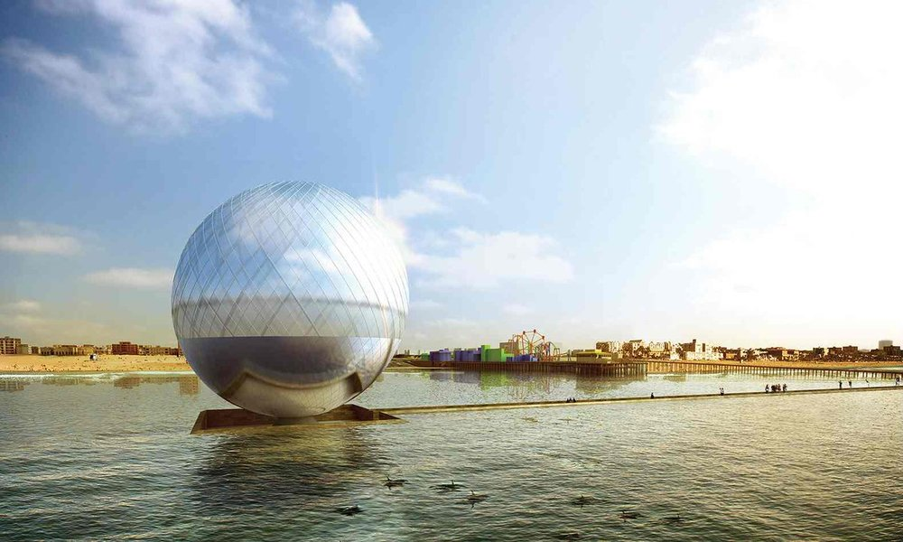 fanciful power plants envisioned off the santa monica pier my