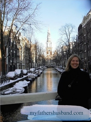 The author, Elloise Bennett, on a visit to Amsterdam