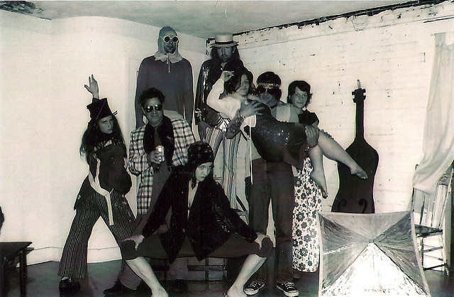 WORKNOT COLLECTIVE, PORTLAND, ME (Kelly, George, Donnue,Tim, Mary, Caleb, Sara, Buffy front/middle (preparing to go to Philly Fringe Festival 2003)