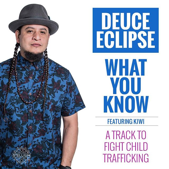 "Look who joined the Stellium fam and more important the fight against #childtrafficking We are growing stronger everyday. Let's change lives. With tracks like ""What You Know"" by @deuceeclipse  featuring Kiwi as our soundtrack we can have fun while we're at it! Buy this track and join us in the fight. [link in bio]"