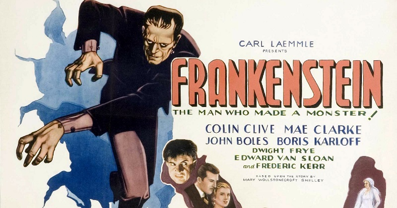 Poster for the film  Frankenstein , released in 1931.