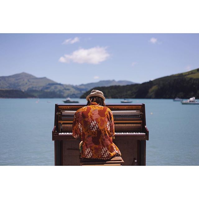 Found a traveling piano man in Akaroa yesterday.