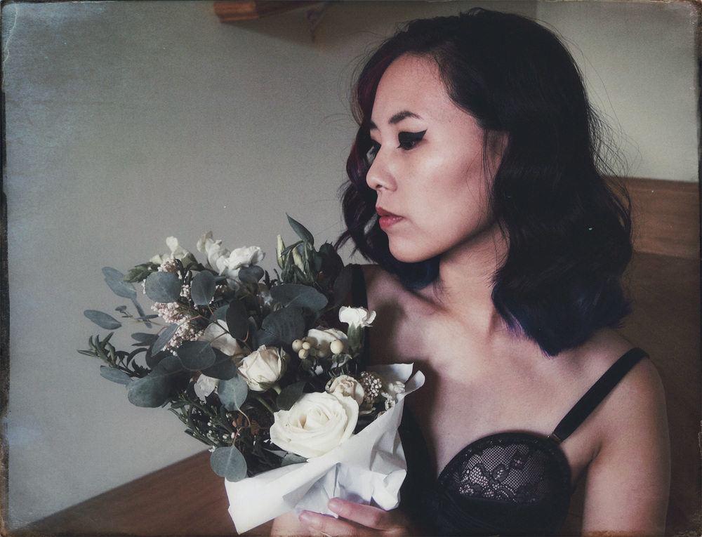 miss blackwell with flowers
