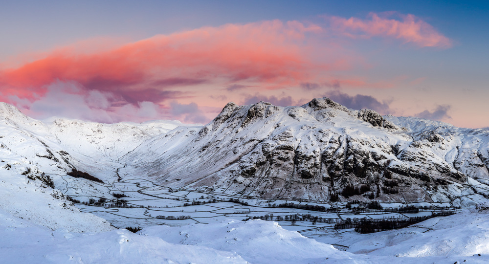 Langdale Pikes In Winter John Shedwick Photography