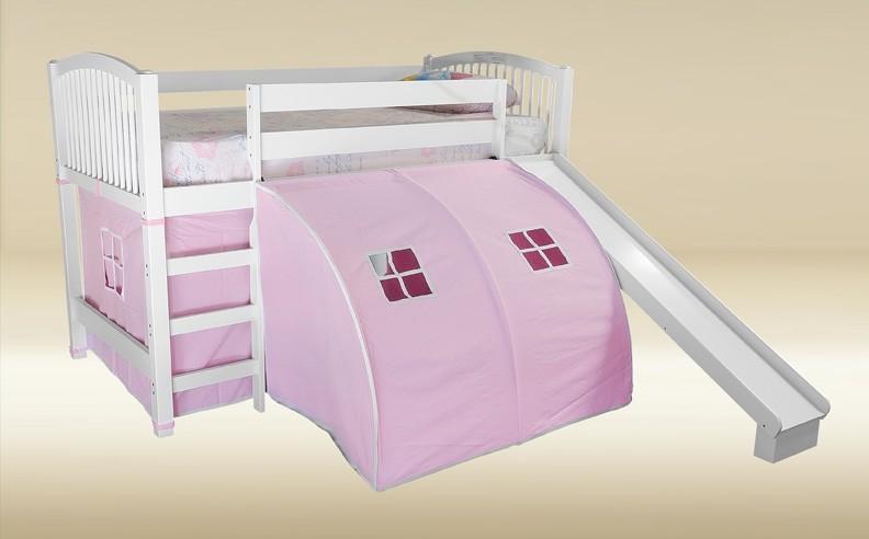 & Pink Jr Loft Tent Bed | Discount Furniture Warehouse