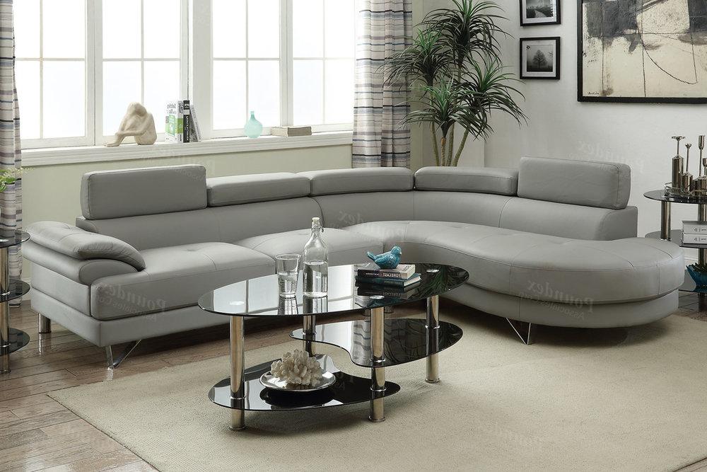 F6984_grey_leatherette_sectional_2pc Honolulu_hawaii_oahu_discount_furniture_warheouse