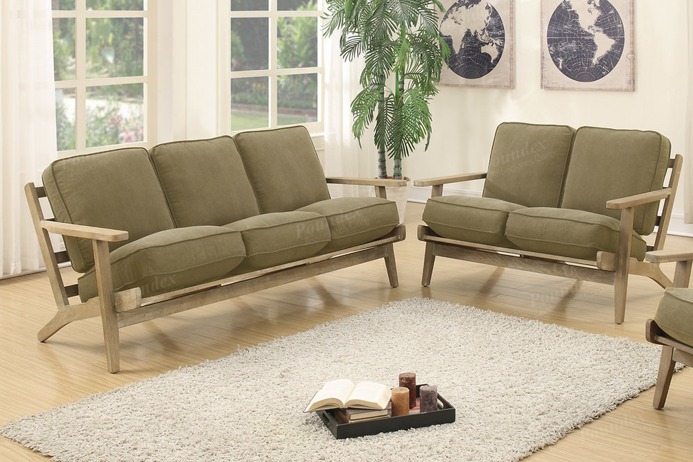 ...  F6947_retro_sofa_loveseat_willow_green_wood_arms_contemporty_honolulu_hawaii_discount  Furniture Warehouse ...