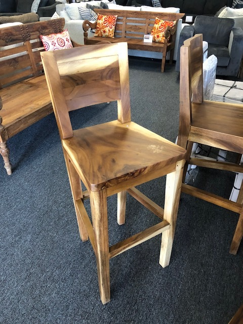 Monkey Pod Wave Bar Stools/Dining Chairs