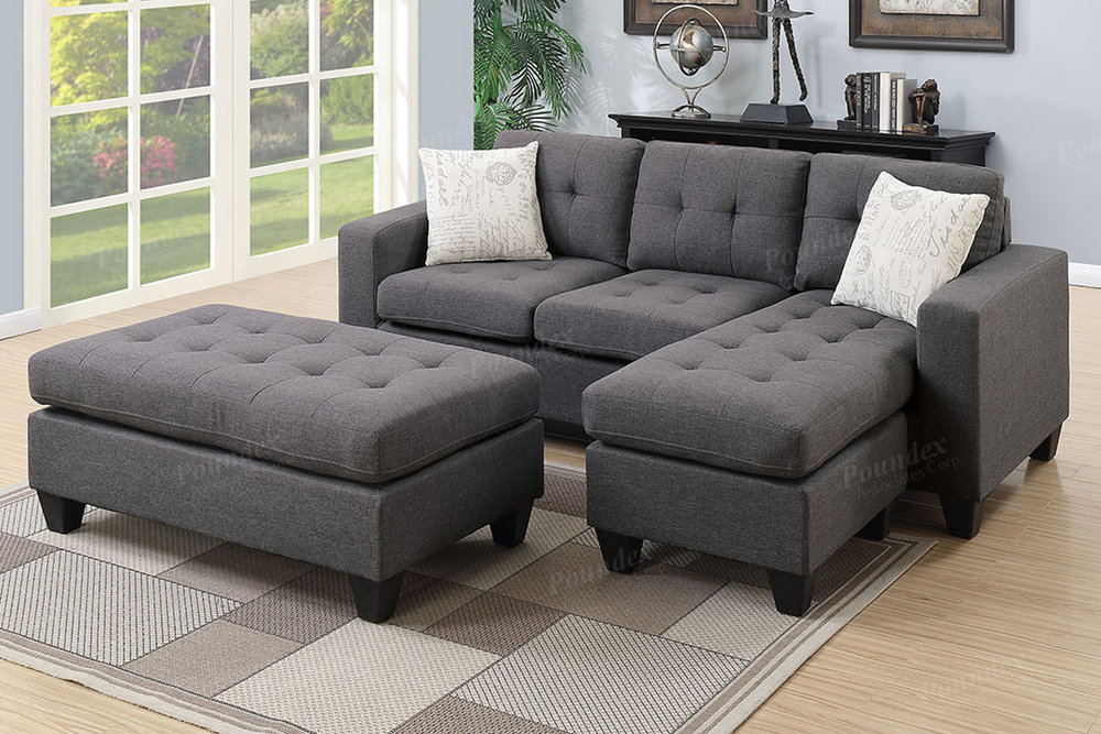 F6920 BLUE GREY ALL IN ONE SECTIONAL_discount Furniture