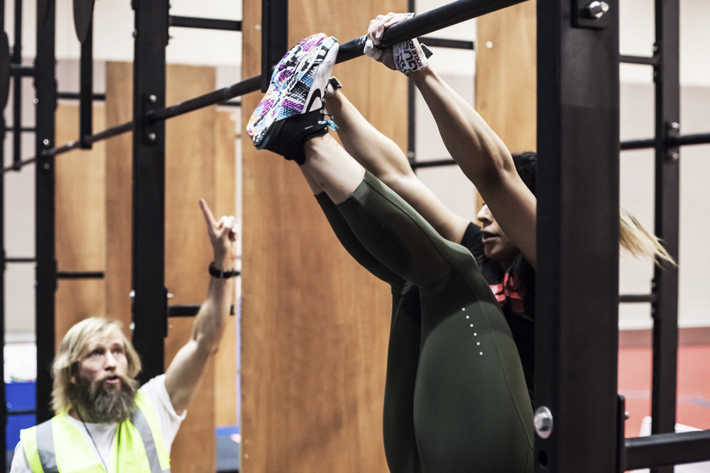 Crossfit athlete Shaikha Al Qassemi during a throwdown in Ramadan.