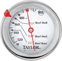 Normal meat thermometer: ±5°F