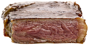 Cinder steak is even and juicy