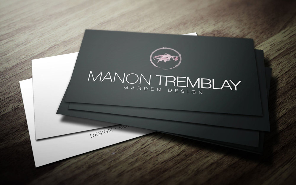 manon tremblay - Garden Design Business Cards