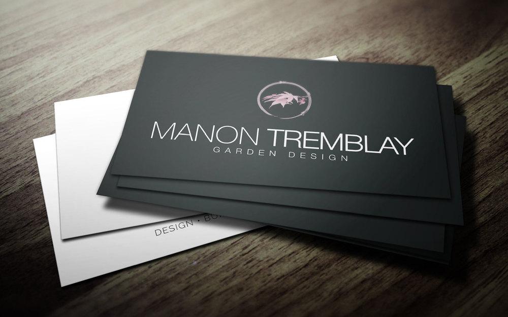 manon tremblay - Garden Design Business Cards