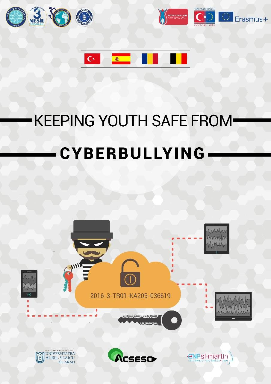 """Cartel oficial del proyecto """"Keeping Youth Safe From Cyberbullying""""/ Official poster of the project """"Keeping Youth Safe From Cyberbullying"""""""