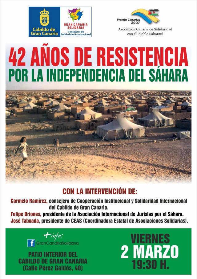 El Patio del Cabildo de Gran Canaria acoge el viernes tres conferencias por el 42º aniversario de la proclamación de la RASD