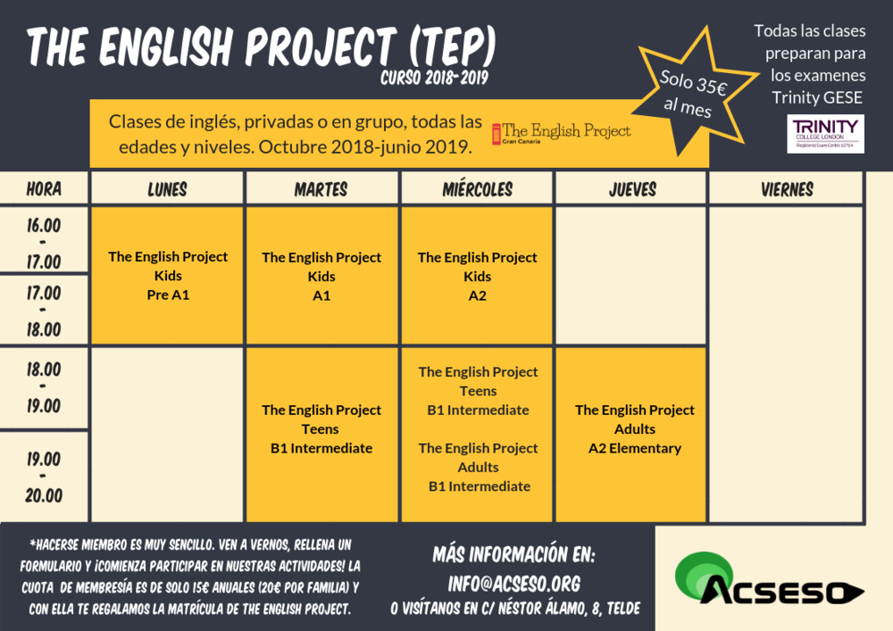 The English Project, 2018-2019