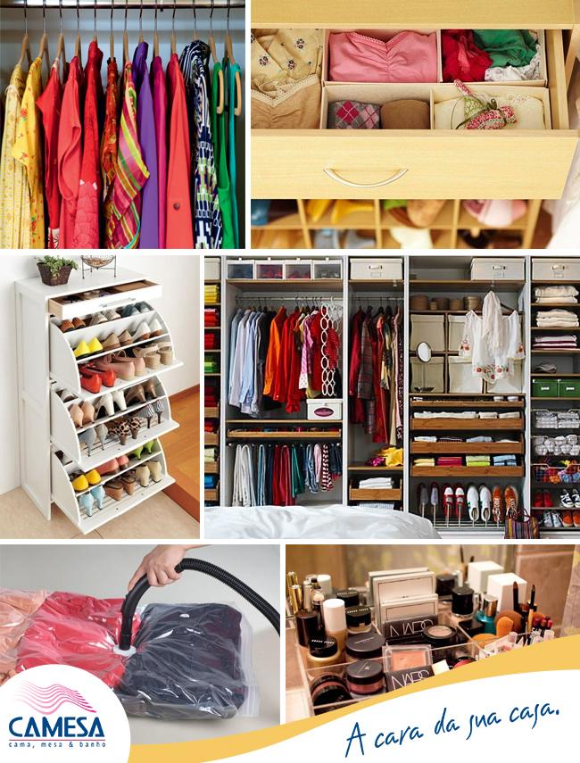 Organizando o guarda-roupa!