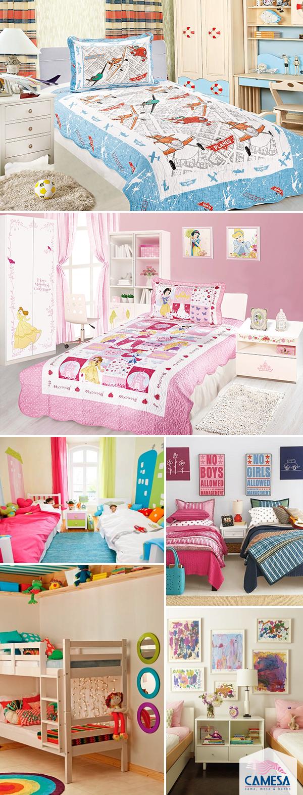 Meninos e meninas: quarto duplo para os filhos