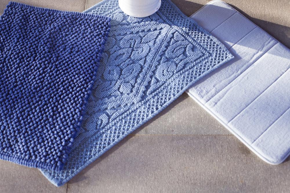 Tapetes para decoração de banheiro