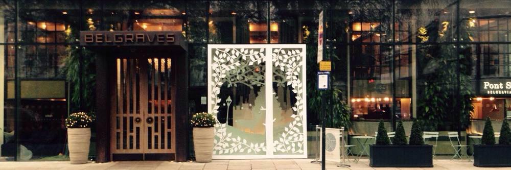 Belgraves Hotel, Belgravia, London. Christmas window display 2014 - winner