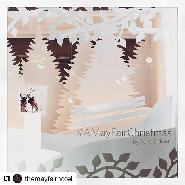 #Repost @themayfairhotel with @repostapp ・・・ Christmas has arrived at The May Fair. This year we've collaborated with world renowned artist Terry Jackson to bring delicate paper-cut Christmas spirit to the streets of London's luxury quarter. Join us during the festive season to experience the magical display first hand, & don't forget we've got an array of decadent surprises in store in our Christmas Advent Calendar starting on 1st December #AMayFairChristmas