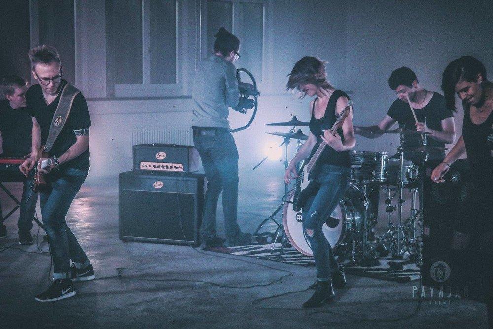 Dreharbeiten für ein Musikvideo