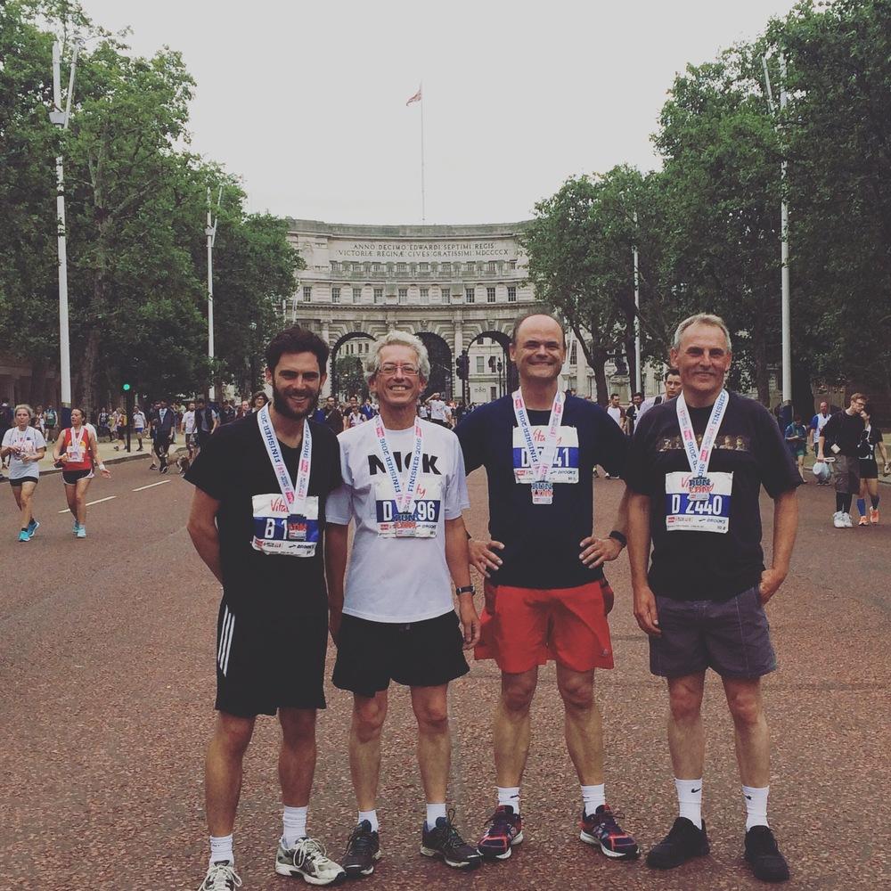 From left to right:Tom Ellis, Nicholas Surridge, Phil Dominy, Pete Ellis.