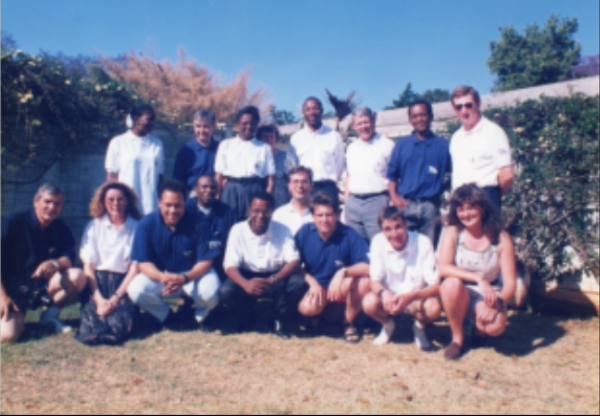 The 1995 All Africa Games reporting team.