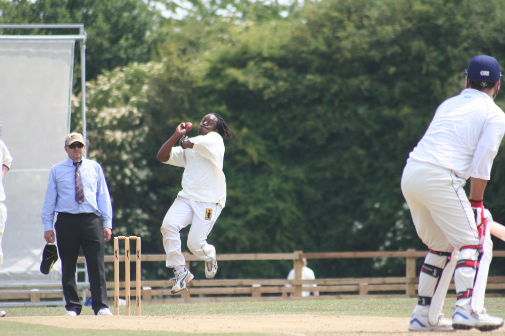 Henry Olonga in action