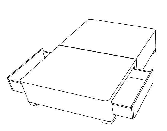 2 zasuvky - bedna - anglicke postele