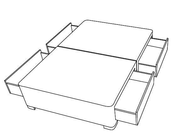 4 velke zasuvky - bedna - anglicke postele