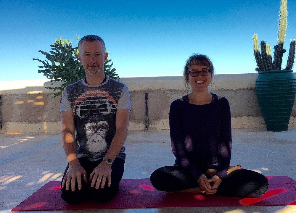 Gareth Williams & Chantal Rafferty of Cheltenham Yoga