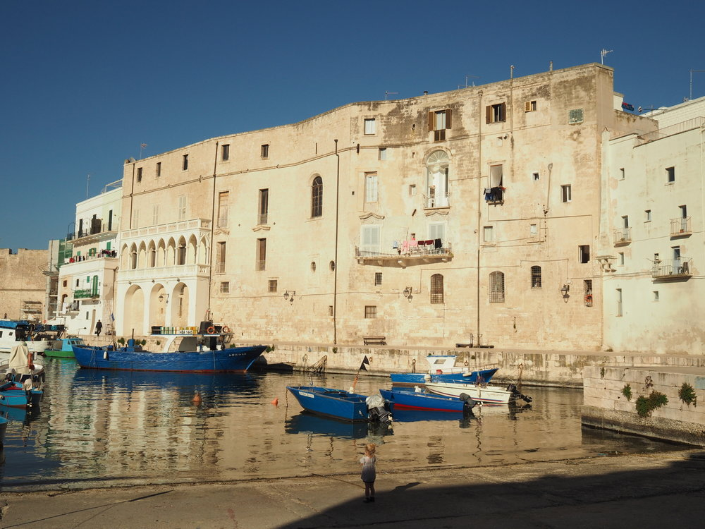 The old port in Monopoli. I looked everywhere for the Thimble, the Boot, and the Wheelbarrow, with no luck.