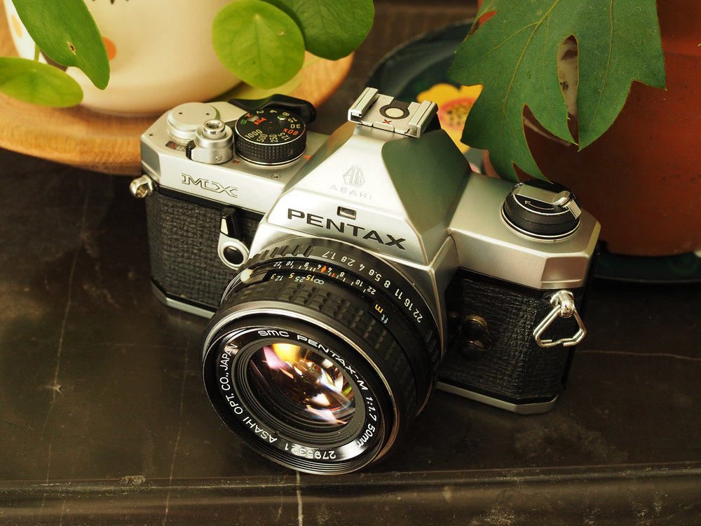 It bears repeating, for search optimization: the Pentax MX is the lightest metal mechanical 35mm SLR.