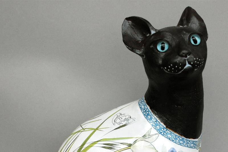 'Rene' black cat