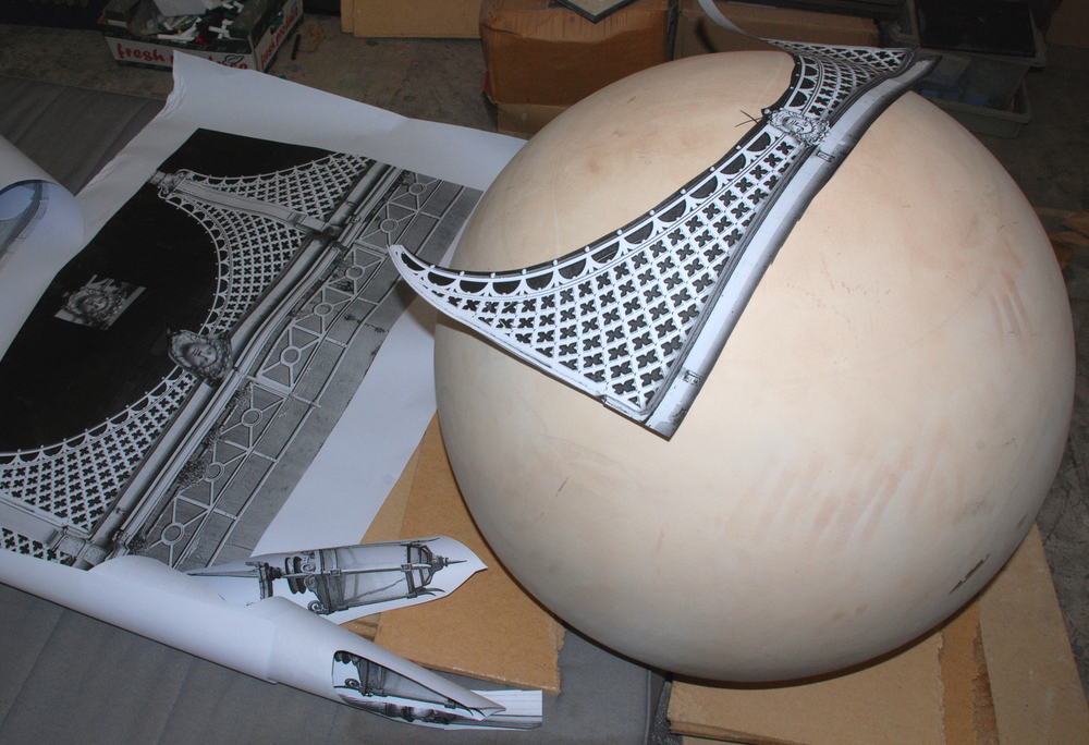 placing the images on the sphere