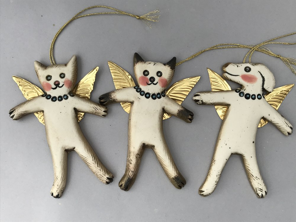 Pet Angels for your Christmas Tree, and as guardian angels all year round!