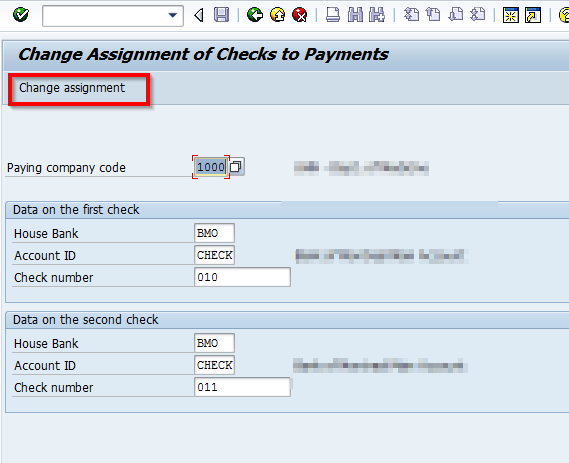 Reassigning Checks to Payment Documents in SAP