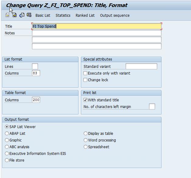 SAP Tips: Create a Vendors Top Spend Report